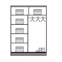 Dressing Dome DO7-15 - Dulap-Sifonier D07-15 - 150 x 216 x 58 cm