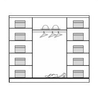 Dressing Dome DO4-24 - Dulap-Sifonier D04-24 - 240 x 216 x 58 cm