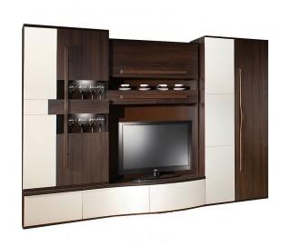 Biblioteca Chanell Wenge - Mobila Living - Sufragerie 285 x 200 x 60 cm