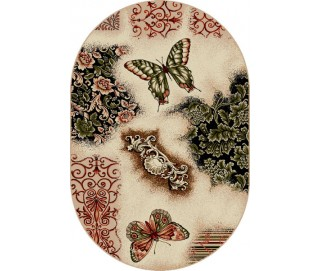 Covor Lotus Fluturi Oval - 1607/110