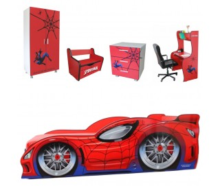 Pachet Dormitor Complet Copii Spider Man Mare - 2-14 ani