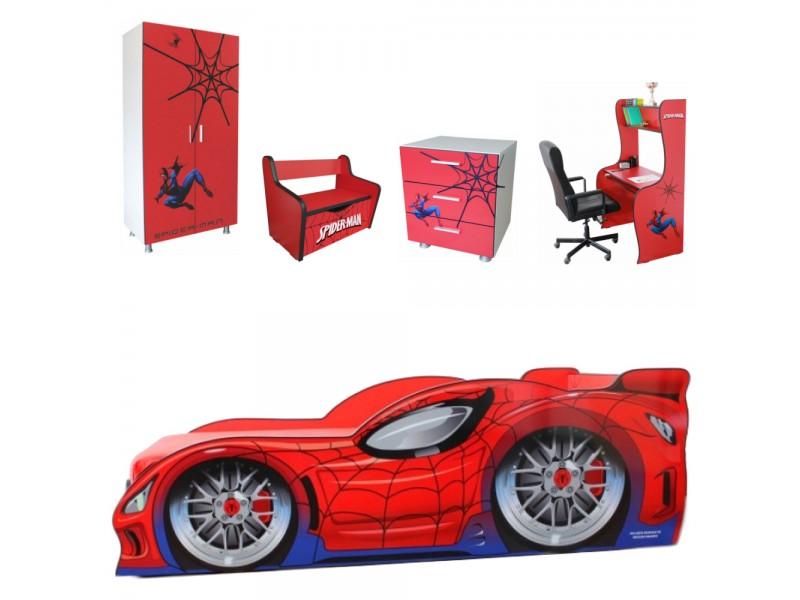 Pachet Dormitor Complet Copii Spider Man Mare - 2-12 ani