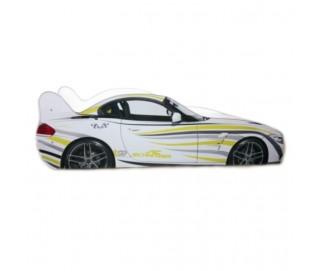 Pachet Pat Copii BMW Zebra Mare + Saltea Spuma 160x80x12 - 2-12 ani