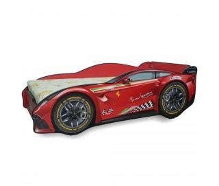Pachet Pat Copii Ferrari Tech Mare + Saltea Spuma 160x80x12 - 2-12 ani