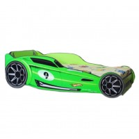 Pat Copii Hot Wheels Green Mare 160x80 - 2-12 ani