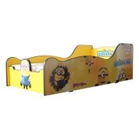 Pat Copii Minions Mare 160x80 - 2-12 ani