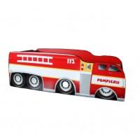 Pat Copii Pompierii 2 Mare 160x80 - 2-12 ani