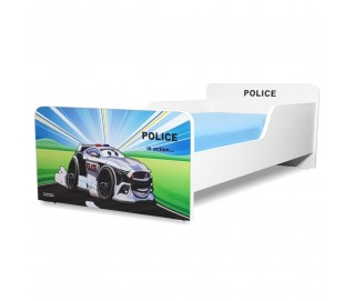 Pat copii Start Police - Mic 140x70cm - 2-8 ani