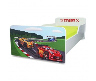 Pat copii Start Racing - Mic 140x70cm - 2-8 ani