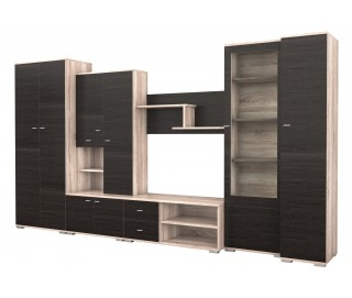 Biblioteca Gabriela / Ars Wenge - Mobila Living 370 x 201 x 51 cm