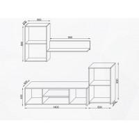 Biblioteca Makaza Stejar - Mobila Living - Culoare Stejar / Alb - 190/40/120 cm