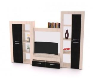 Biblioteca Dania Wenge - Mobila Living - 271/42/203 cm